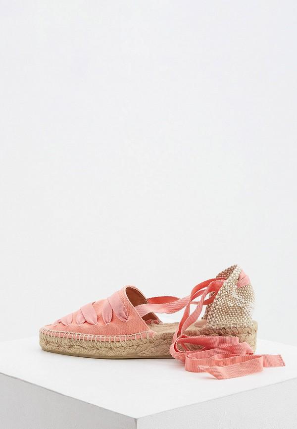 женские эспадрильи castaner, розовые