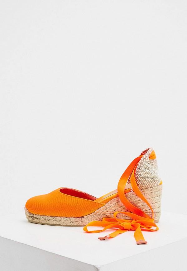 женские босоножки castaner, оранжевые