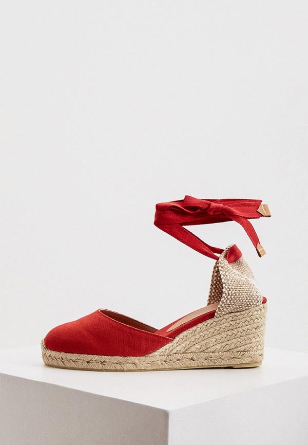 женские туфли castaner, красные