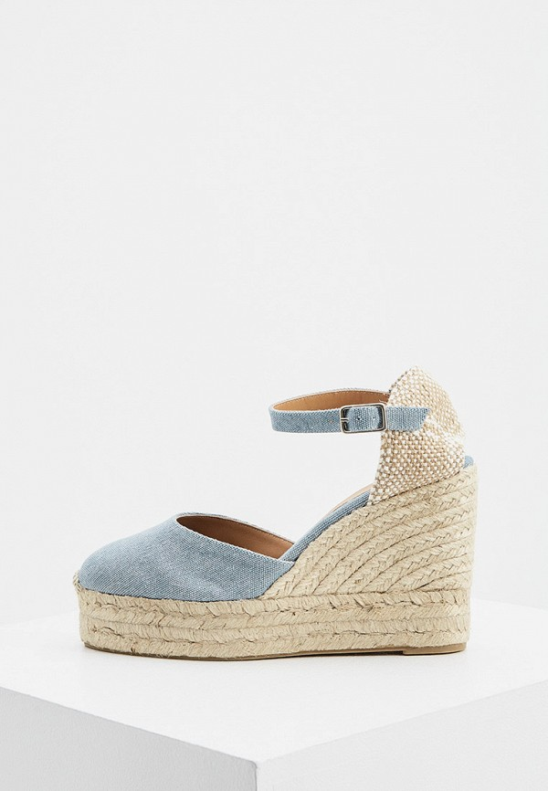 женские туфли castaner, голубые