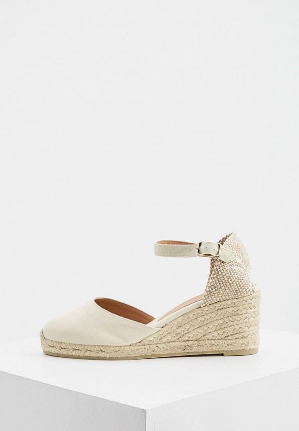 женские туфли castaner, бежевые