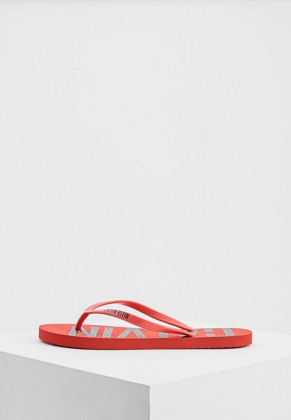 Купить Сланцы Calvin Klein Underwear, CA994AWAQAE8, красный, Весна-лето 2018