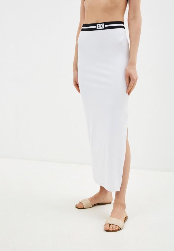 женская прямые юбка calvin klein, белая