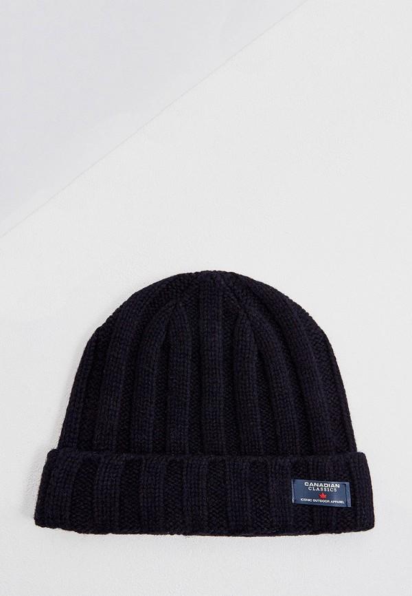 мужская шапка canadian, синяя