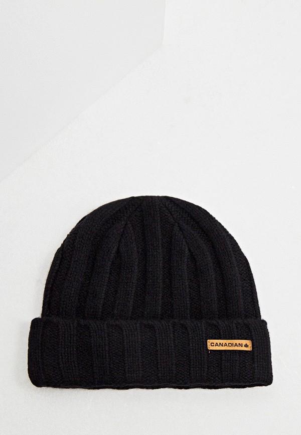 мужская шапка canadian, черная