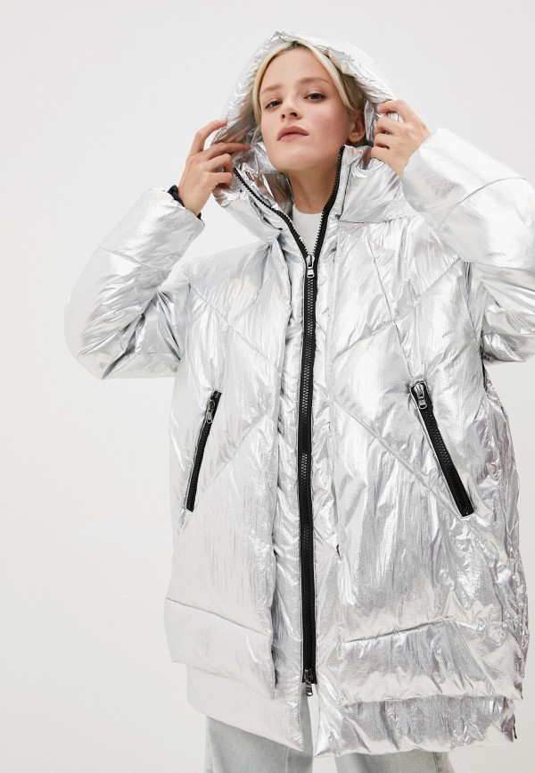 женская куртка canadian, серебряная