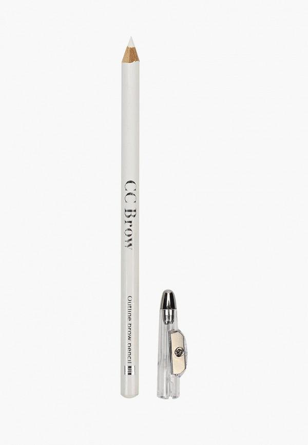 Купить Карандаш для бровей CC Brow, Контурный Outline brow pencil, цвет 10 (белый), cc003lwcgmv8, прозрачный, Весна-лето 2019