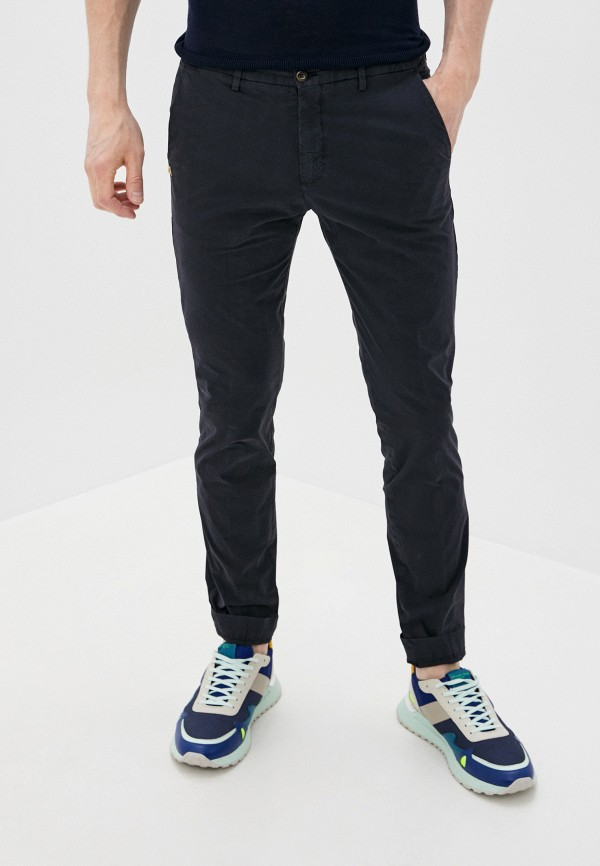 мужские зауженные брюки cc collection corneliani, черные