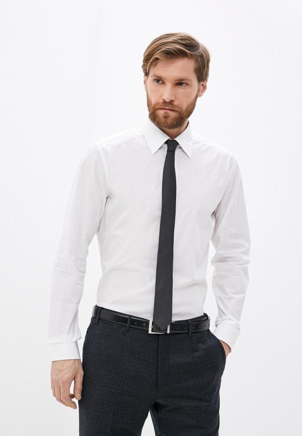 мужская рубашка с длинным рукавом cc collection corneliani, белая