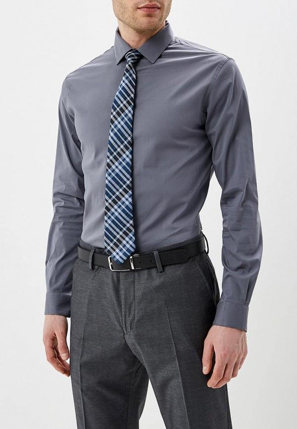 мужская рубашка с длинным рукавом celio, серая