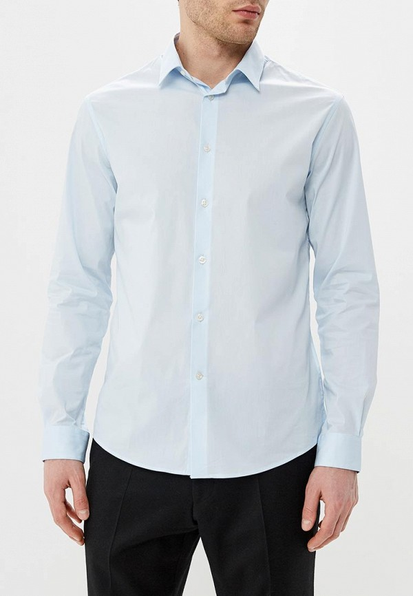 мужская рубашка с длинным рукавом celio, голубая