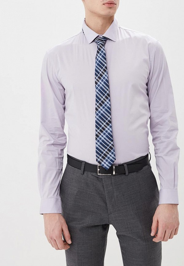 мужская рубашка с длинным рукавом celio, фиолетовая