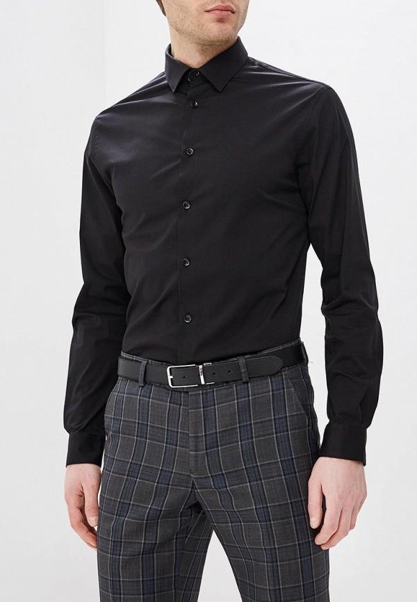 мужская рубашка с длинным рукавом celio, черная