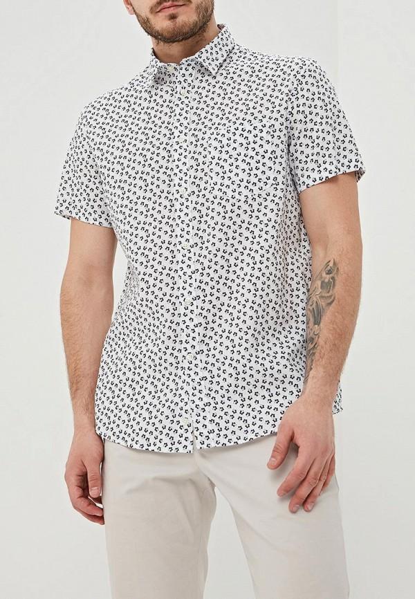 мужская рубашка с коротким рукавом celio, белая