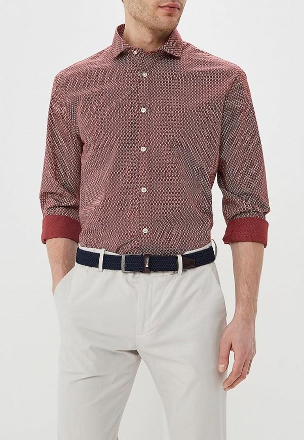 мужская рубашка с длинным рукавом celio, бордовая