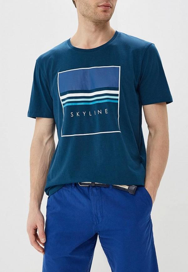 мужская футболка с коротким рукавом celio, синяя