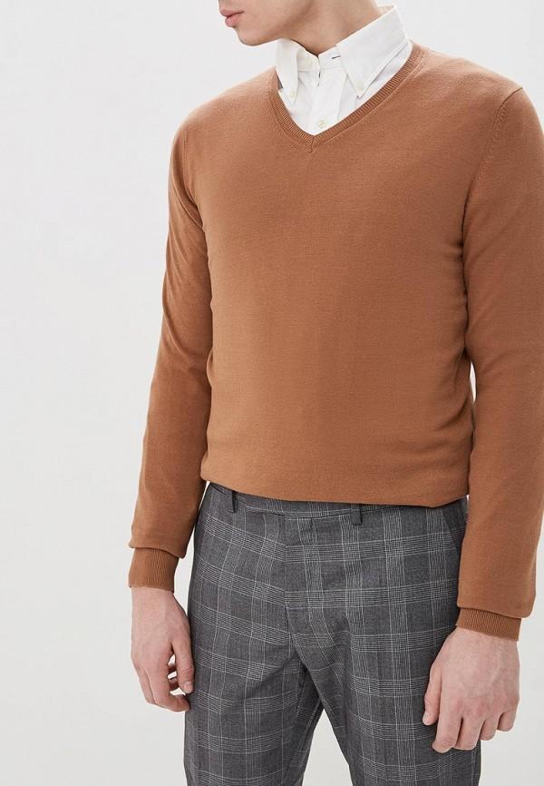 мужской пуловер celio, коричневый