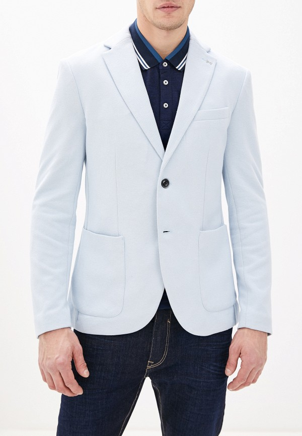 мужской пиджак celio, голубой