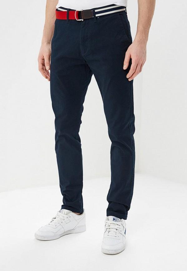 мужские зауженные брюки celio, синие
