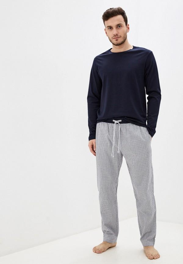 мужская пижама celio, синяя