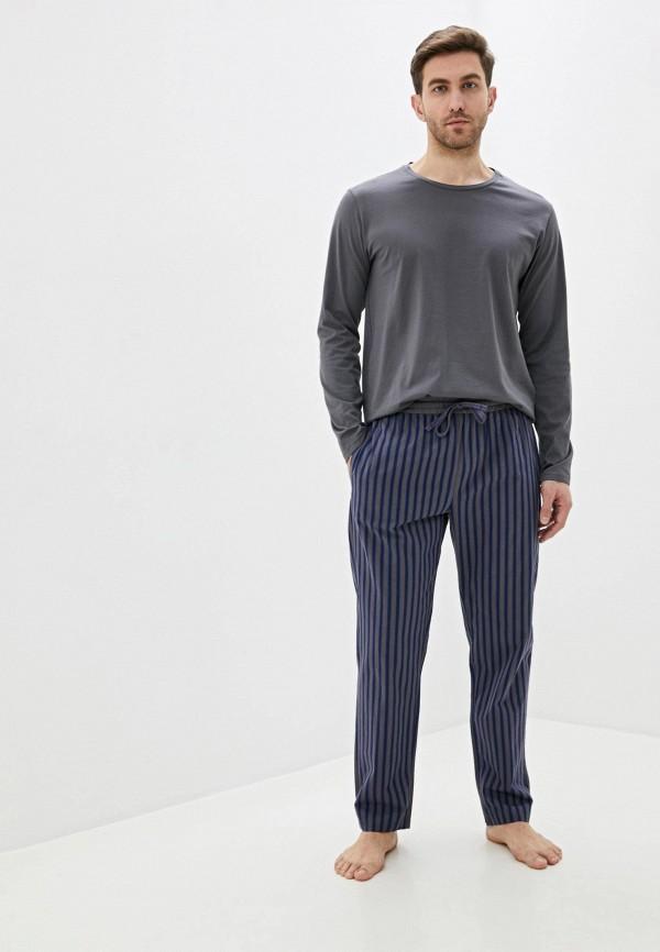 мужская пижама celio, серая