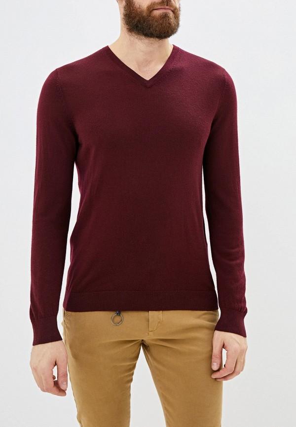 мужской пуловер celio, бордовый