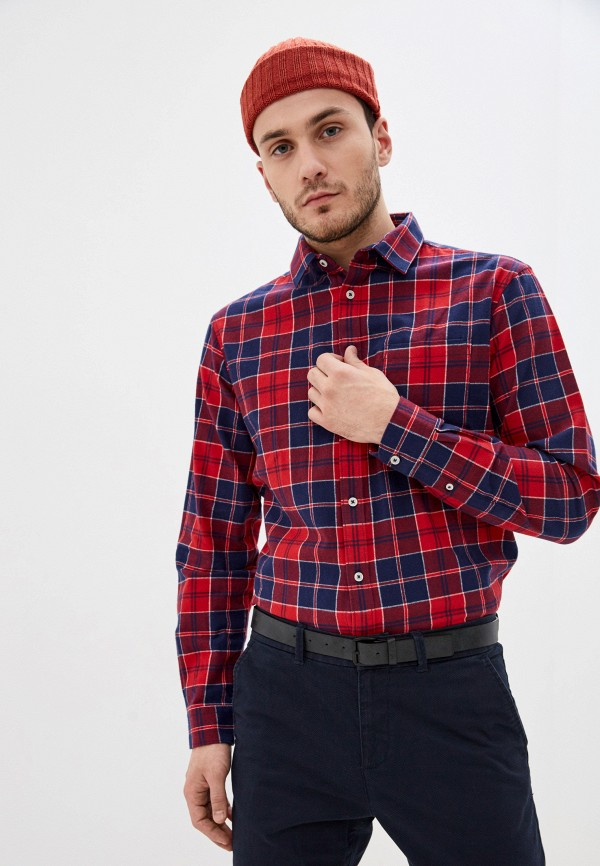 мужская рубашка с длинным рукавом celio, красная