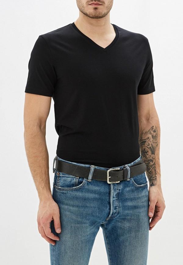 мужская футболка с коротким рукавом celio, черная