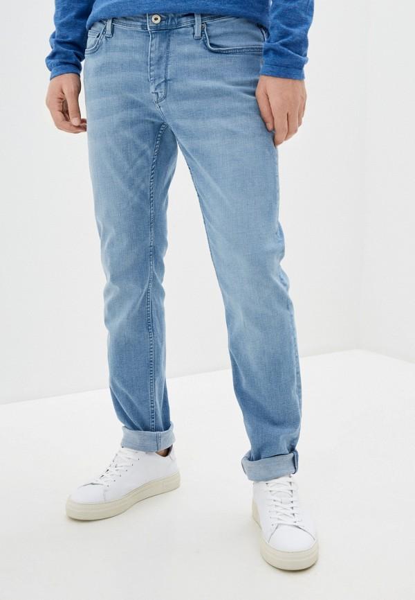 мужские зауженные джинсы celio, голубые