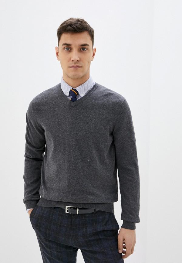 мужской пуловер celio, серый