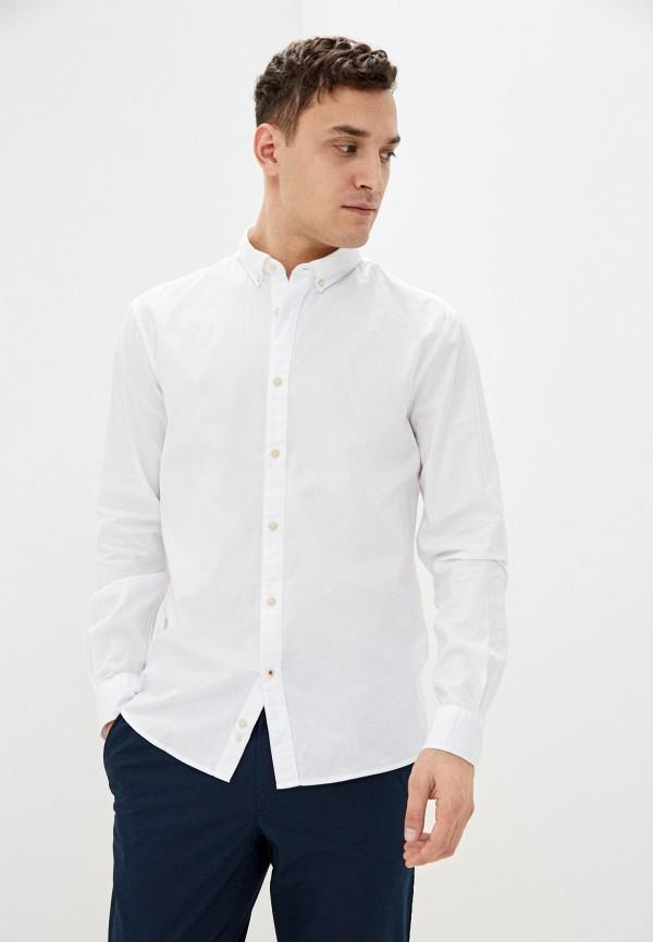 мужская рубашка с длинным рукавом celio, белая