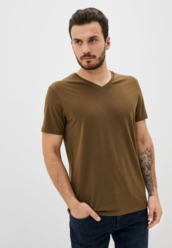 мужская футболка с коротким рукавом celio, хаки