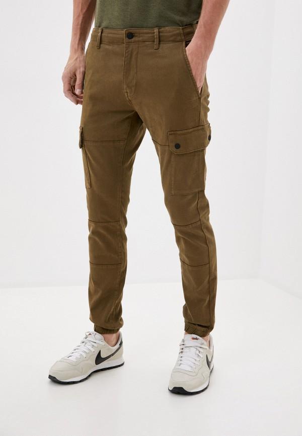 мужские зауженные брюки celio, хаки