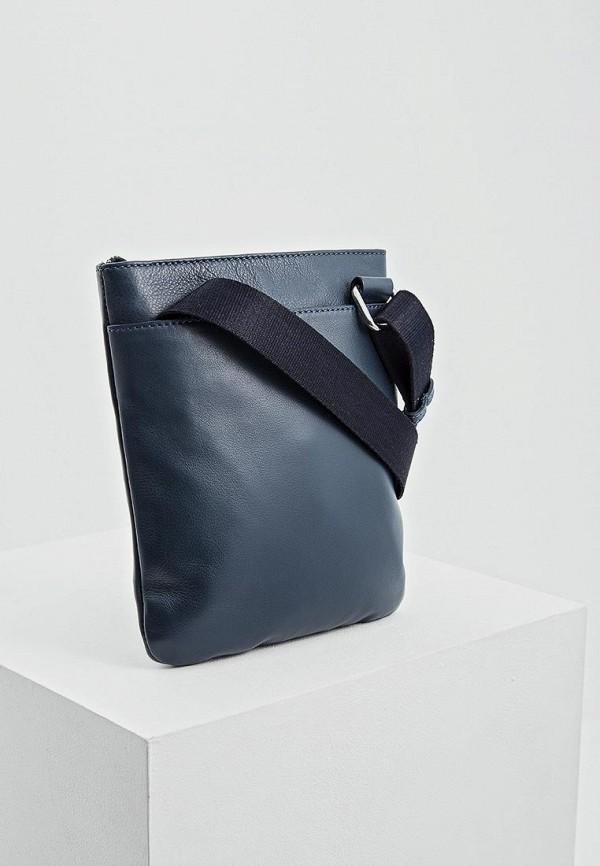 Фото 2 - мужскую сумку Cerruti 1881 синего цвета