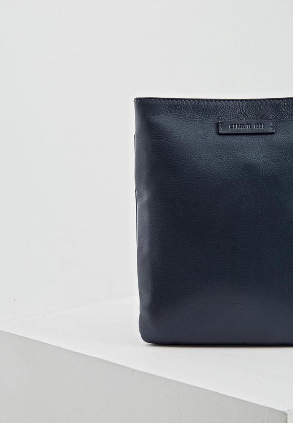 Фото 3 - мужскую сумку Cerruti 1881 синего цвета