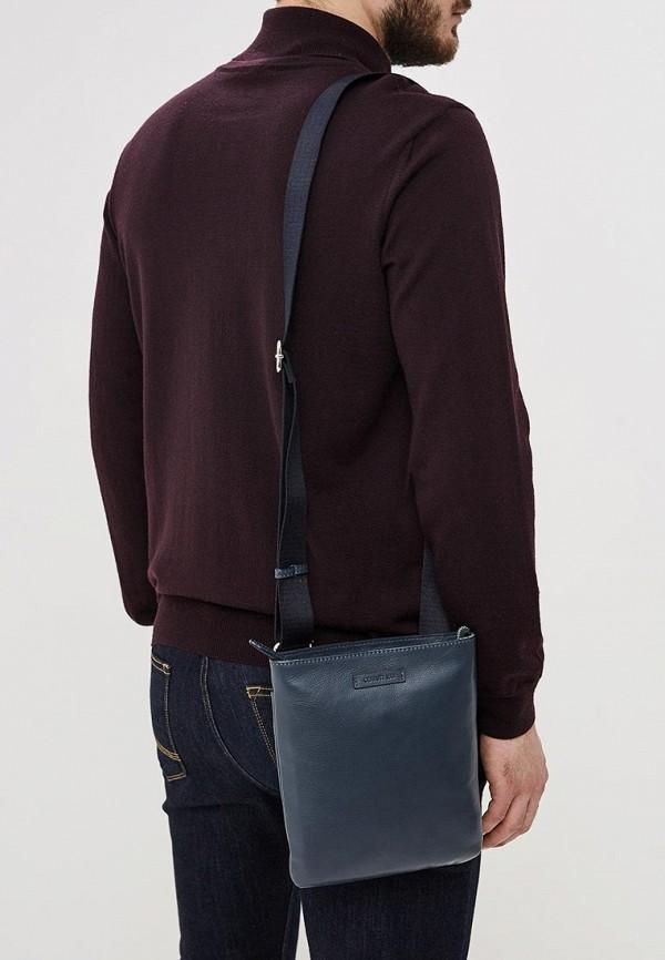 Фото 6 - мужскую сумку Cerruti 1881 синего цвета