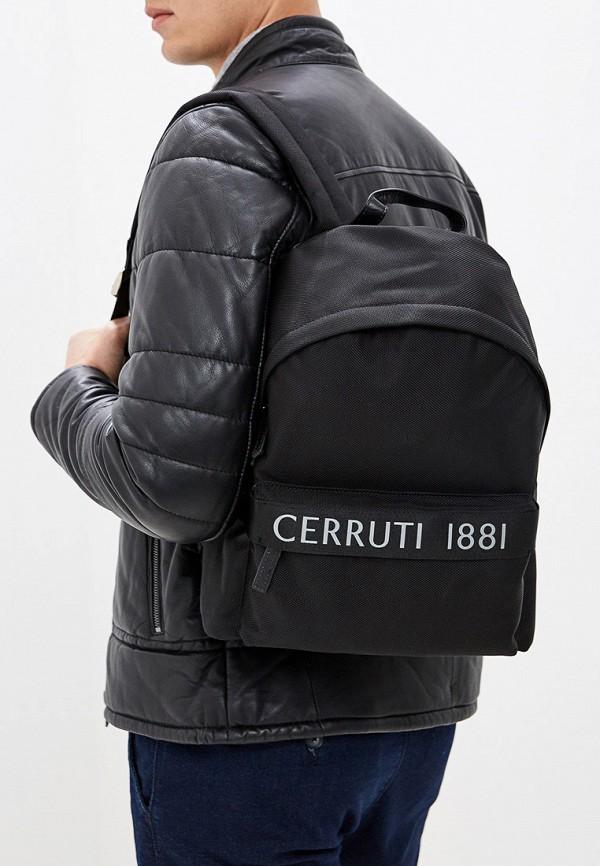 Фото 6 - мужской рюкзак Cerruti 1881 черного цвета