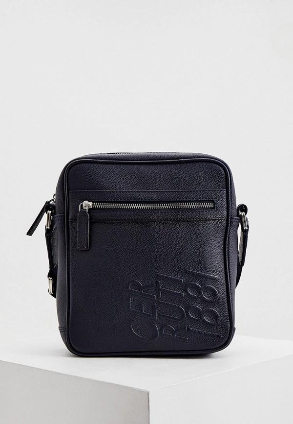 мужская сумка cerruti 1881, синяя