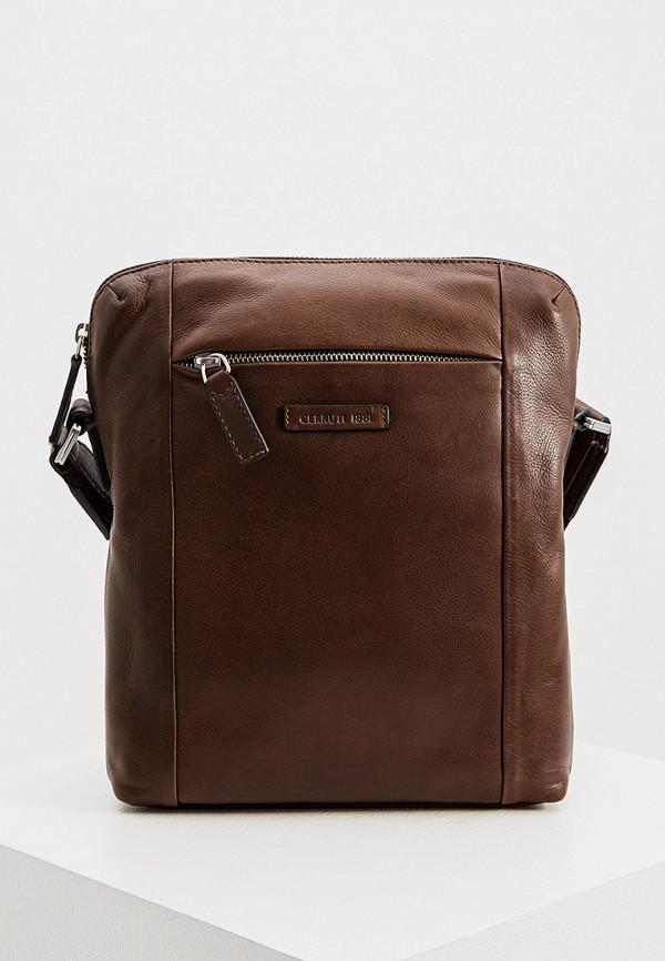 мужская сумка cerruti 1881, коричневая