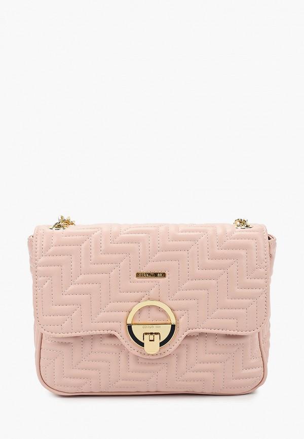 женская сумка cerruti 1881, розовая