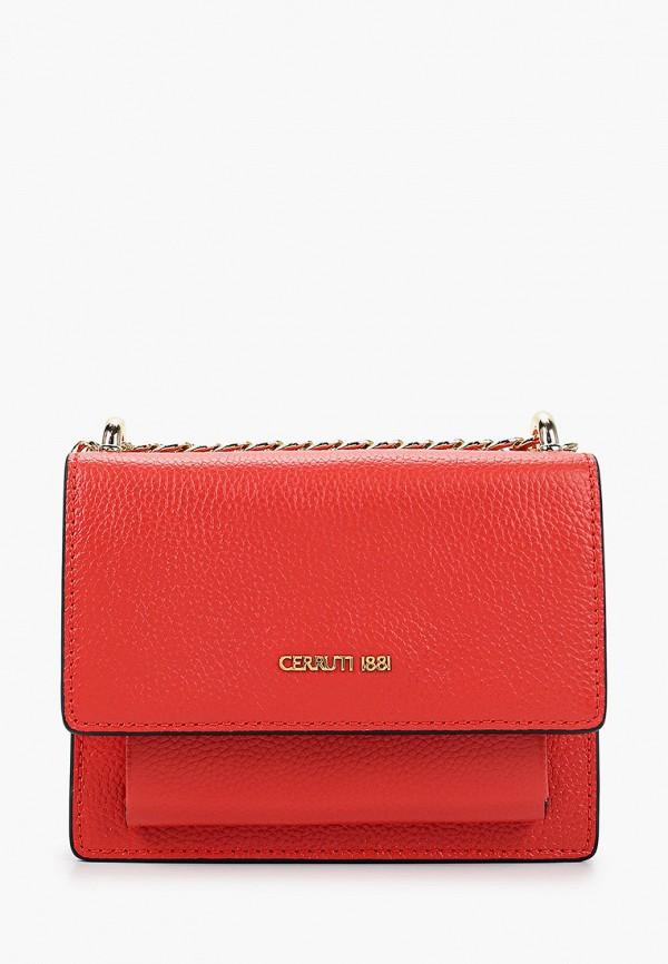 женская сумка cerruti 1881, красная