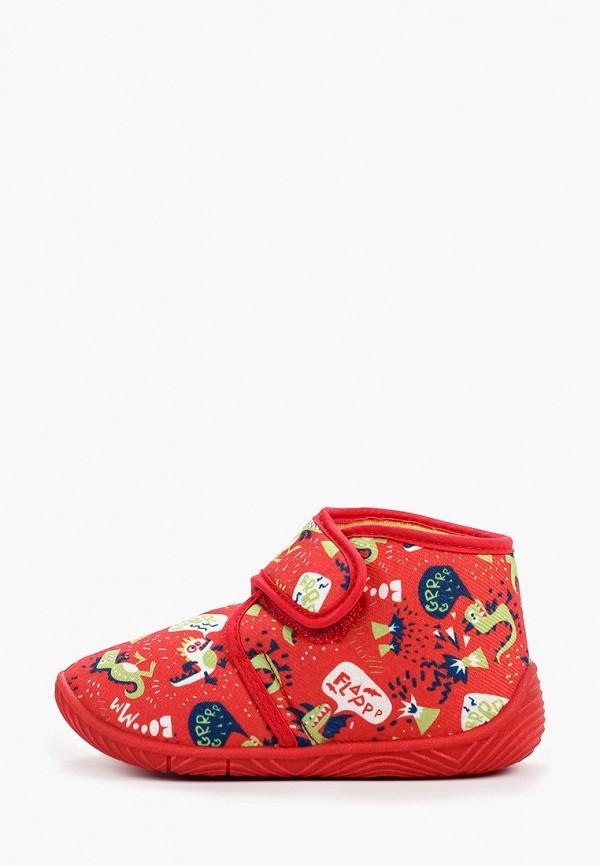 тапочки chicco для мальчика, красные