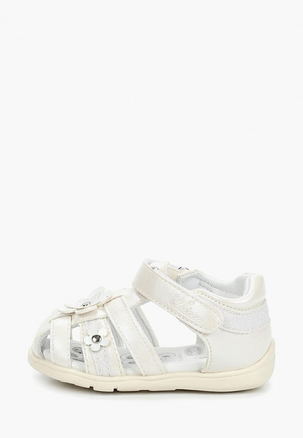 сандалии chicco для девочки, белые