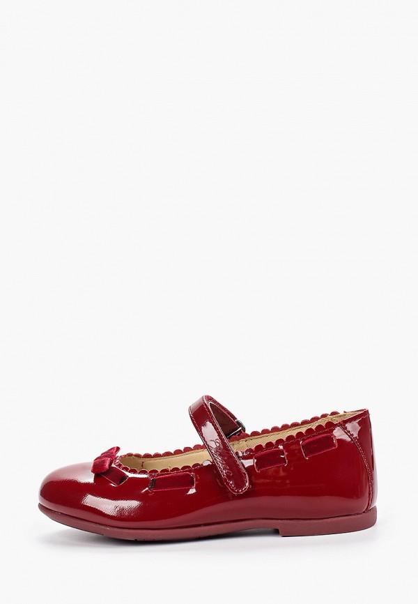 туфли chicco для девочки, бордовые