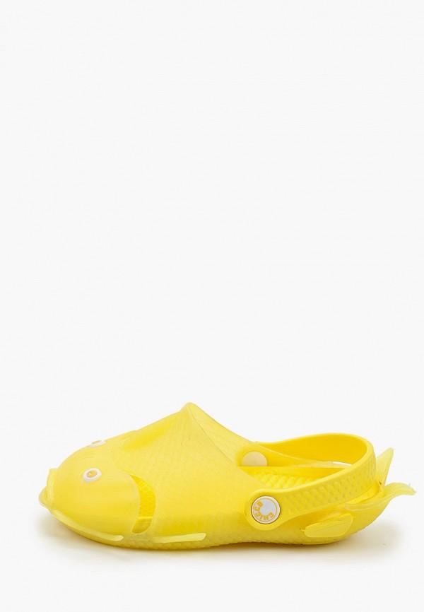 сабо chicco для девочки, желтое