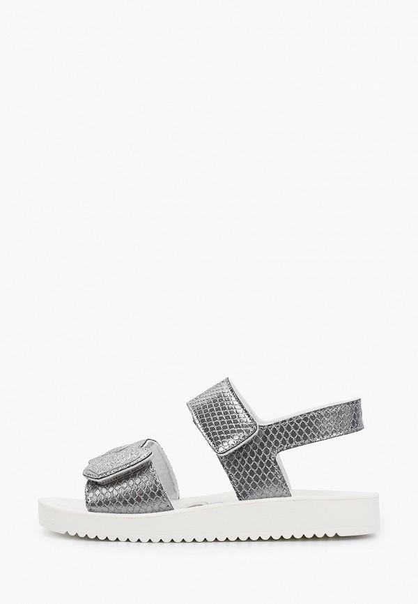 сандалии chicco для девочки, серебряные