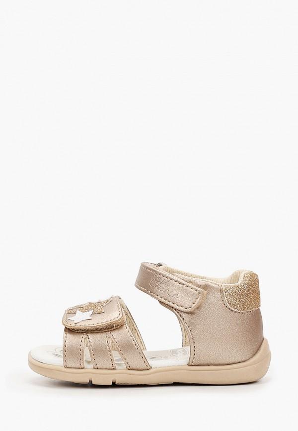 сандалии chicco для девочки, золотые