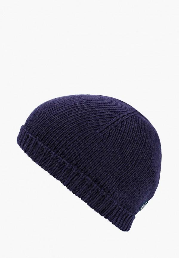 шапка chicco для девочки, синяя
