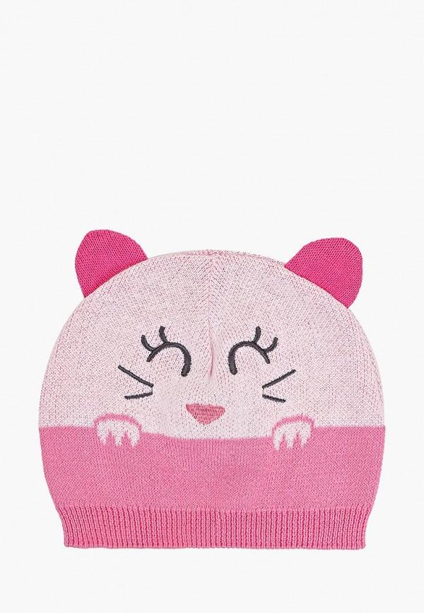 шапка chicco для девочки, розовая