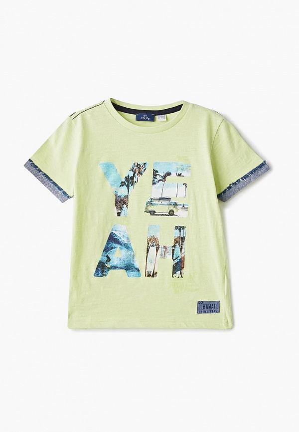 футболка с коротким рукавом chicco для мальчика, зеленая